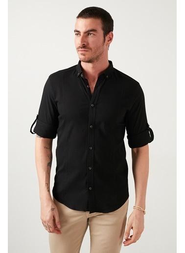 Buratti Buratti Düğmeli Yaka Erkek Gömlek CF21S113008 Siyah